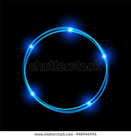Energy Frame Shining Circle Banner Magic Stock Vector #2: stock vector energy frame shining circle banner magic light neon energy circle glowing fire ring trace