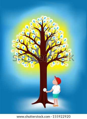 energy from tree ' concept vector - stock vector