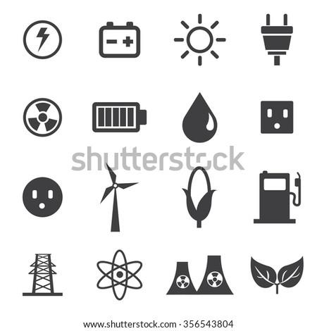 Energy Icons Set - stock vector