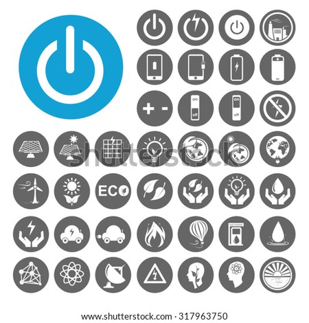 Energy icons set. Illustration EPS10 - stock vector