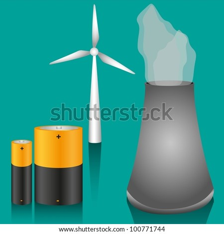 energy icons, vector illustration - stock vector