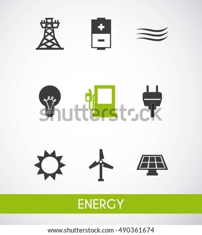 energy industry concept icon vector illustration design