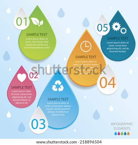 Energy Infographic Easy to Edit , adjust color and size.  Shadow are made with transparency set to Multiply. - stock vector