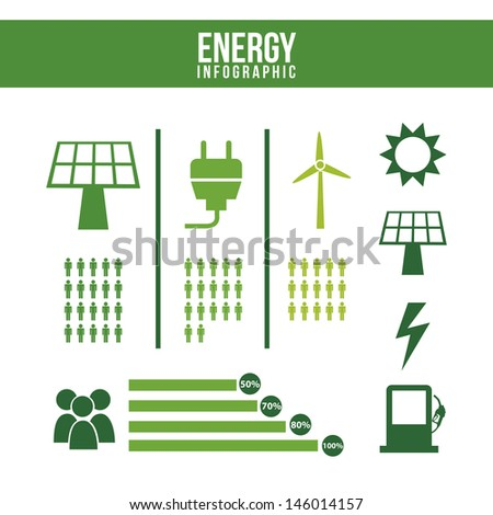 energy infographics over white background vector illustration