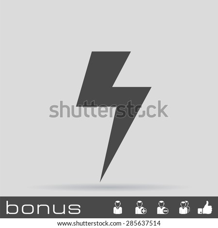 energy power icon - stock vector