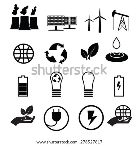 Energy reservation and recycle icons
