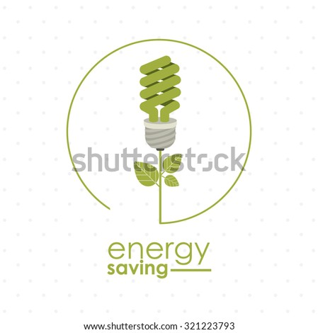 Energy saving concept with eco icons design, vector illustration eps 10