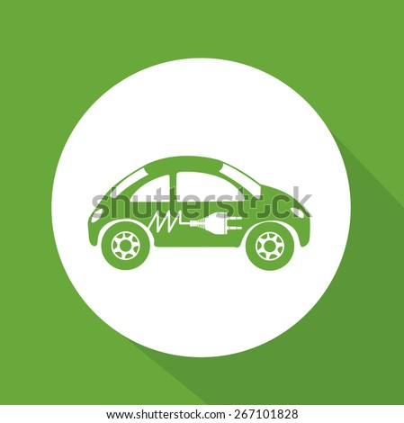 Energy saving design over green background, vector illustration