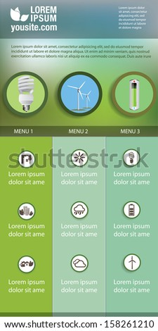 energy saving infographic or banner design - stock vector