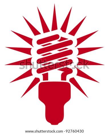 energy saving light bulb - stock vector