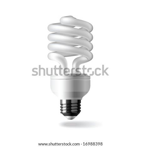 Energy saving light bulb. Vector. - stock vector