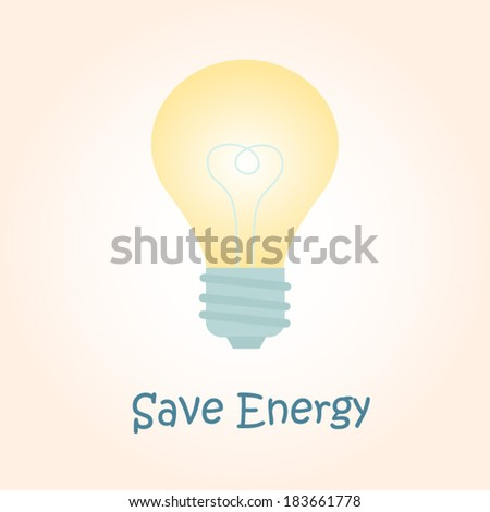 Energy saving light cartoon