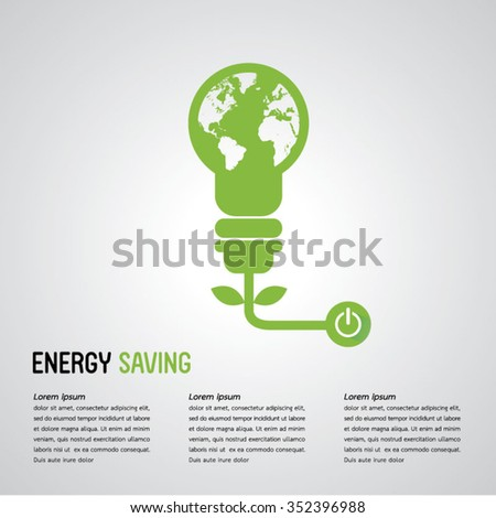 energy saving / save world.