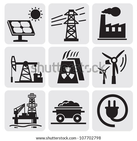 energy set - stock vector