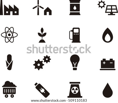 ENERGY SOURCES black icons