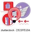 Energy symbols - stock