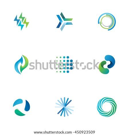 Energy Symbols Stock Vector 450923509 - Shutterstock