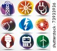 Energy Symbols Set. - stock photo