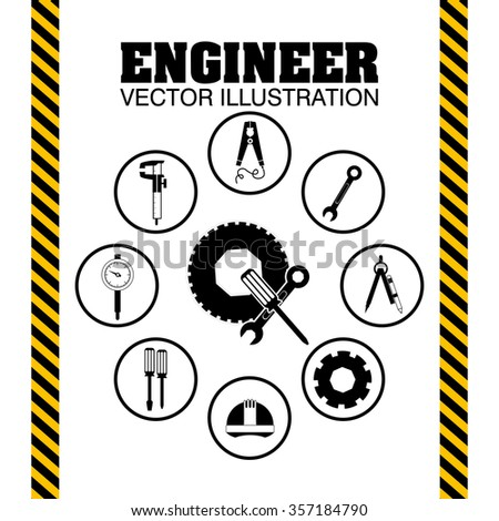 engineer concept  design, vector illustration eps10 graphic