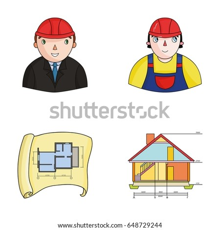 Engineer Constructor Construction Worker Site Plan Technical Drawing Of The House