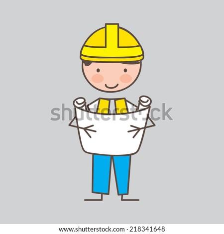 engineer graphic design , vector illustration - stock vector
