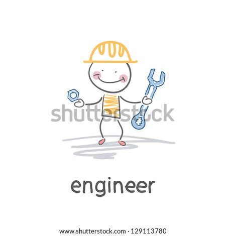 Engineer. Illustration - stock vector