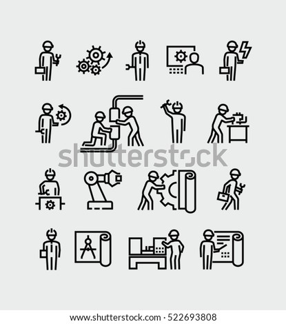 Engineer Vector Icons