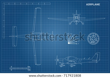 Airplane blueprint imgenes pagas y sin cargo y vectores en stock engineering blueprint of plane fast sport airplane view top side and front industrial malvernweather Gallery