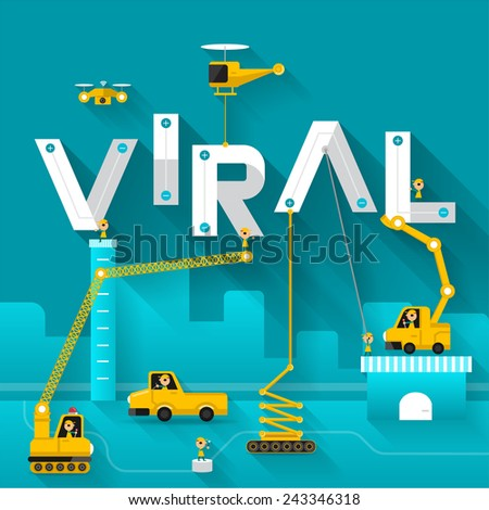 Engineering building text Viral. Vector Illustrate - stock vector