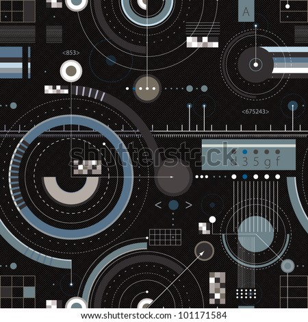 Engineering draft seamless pattern. Geometric vector wallpaper or website background. - stock vector