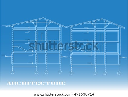 ENGINEERING DRAWING  FEATURES, ARCHITECTURE  - STOCK PICTURE