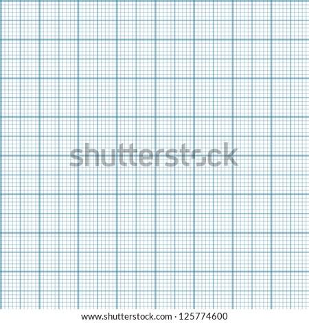 Engineering millimeter paper - vector seamless background - stock vector