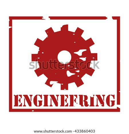Engineering Text On Logo Rubber Stamp Stock Vector 433860403