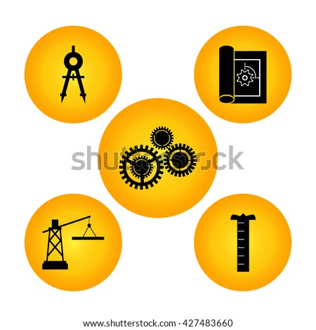 Engineering Tools Icon. - stock vector