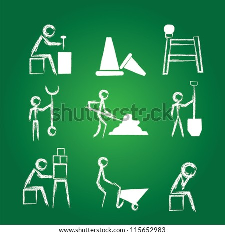 Engineers icon set,Drawing,Vector