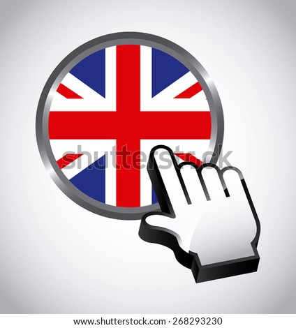 england button design, vector illustration eps10 graphic  - stock vector