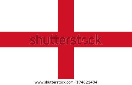 England flag illustration - stock vector