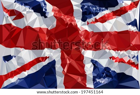 England Flag - Polygonal Shapes. Vector Illustration. - stock vector