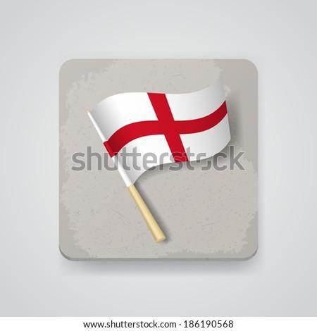 England flag, vector icon - stock vector