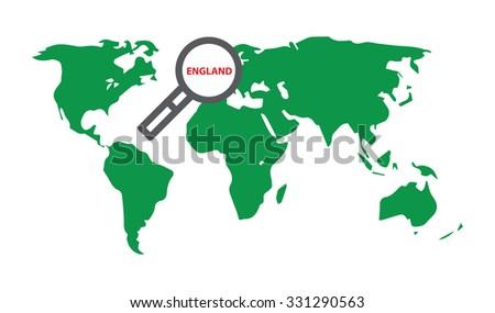 England illustration world map loupe stock vector 2018 331290563 england illustration with world map and loupe gumiabroncs Image collections