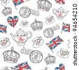 England London drawing seamless vector - stock vector
