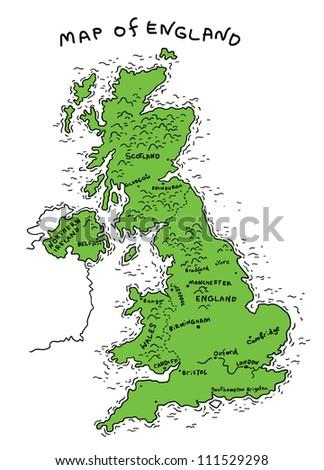 england map - stock vector