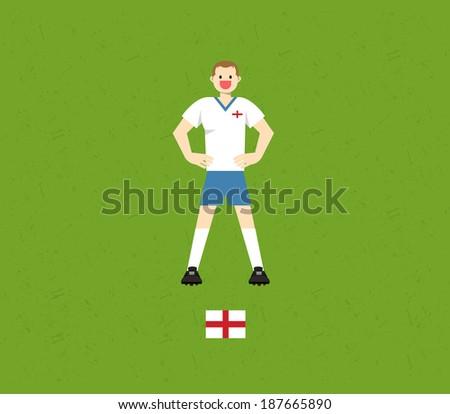 England Soccer Tables  - stock vector