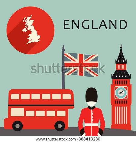 England travel illustration