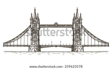 England vector logo design template. London or bridge icon. - stock vector