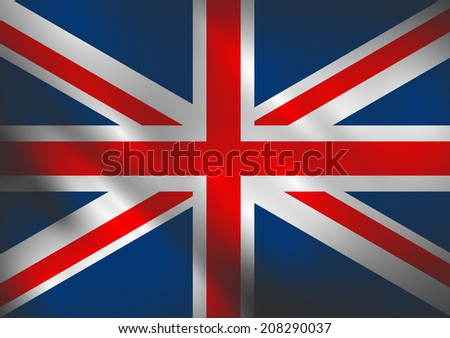 England waving flag vector