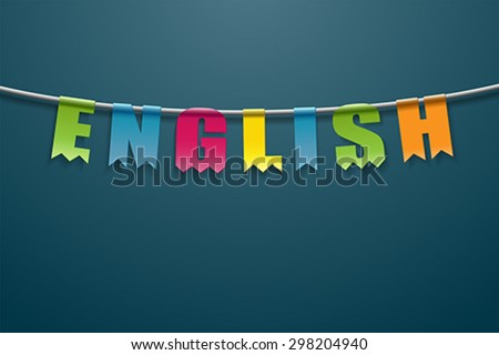 English - stock vector