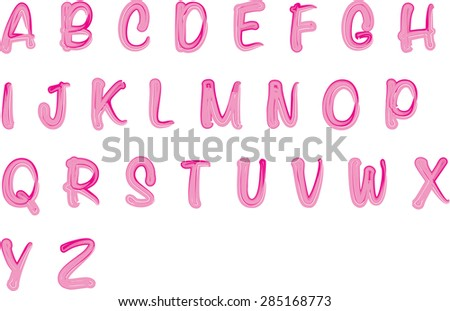 English alphabet A to Z