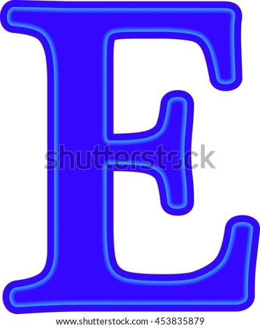 English alphabet education blue letter e stock vector royalty free english alphabet education blue the letter e vector altavistaventures Images