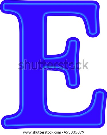 English alphabet education blue letter e stock vector 453835879 english alphabet education blue the letter e vector thecheapjerseys Choice Image